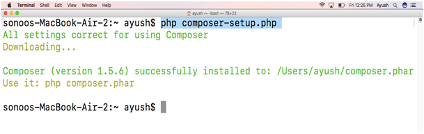 How to install Composer on MacOS