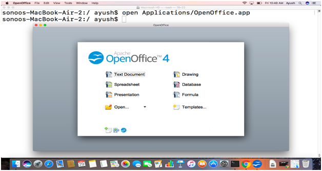 How to install OpenOffice on MacOS