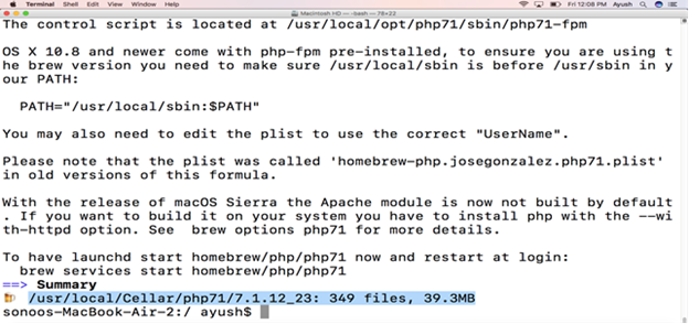 How to Install Php in Macos1