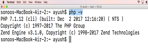 How to Install Php in Macos2