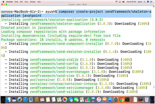 How to Install Zend Framework on Mac - javatpoint