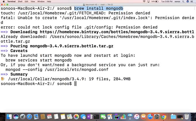Macos MongoDB 1