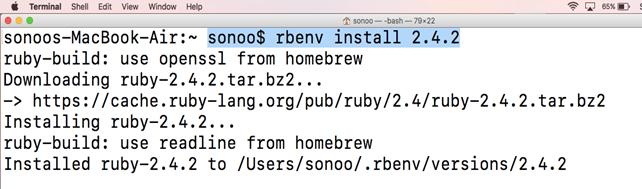 install ruby 2.4 macos