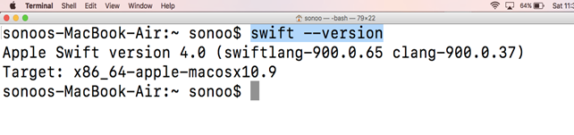 Macos Swift 3