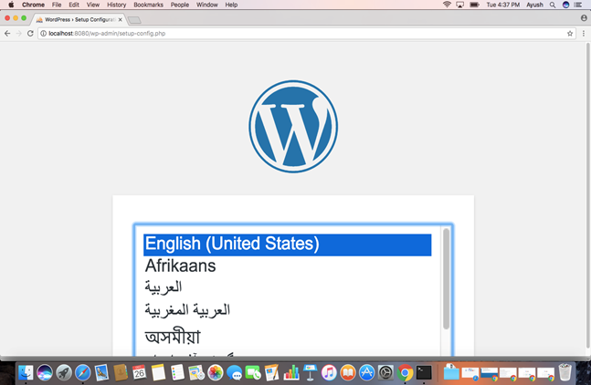 Macos WordPress 4