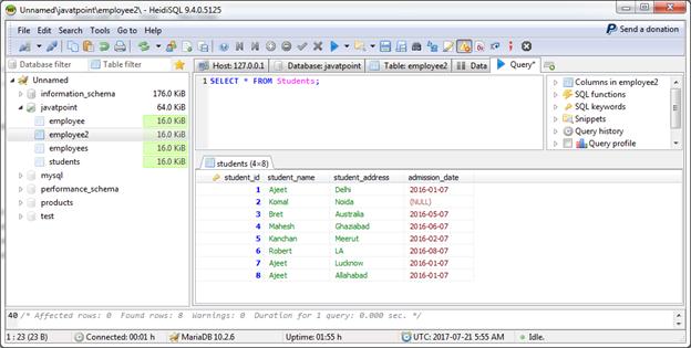 MariaDB Join 2