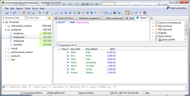 MariaDB Join 3