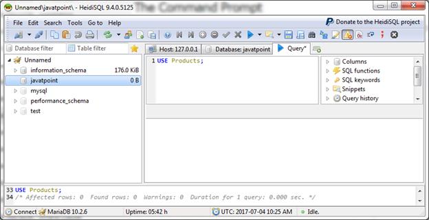 Mariadb Select database 2