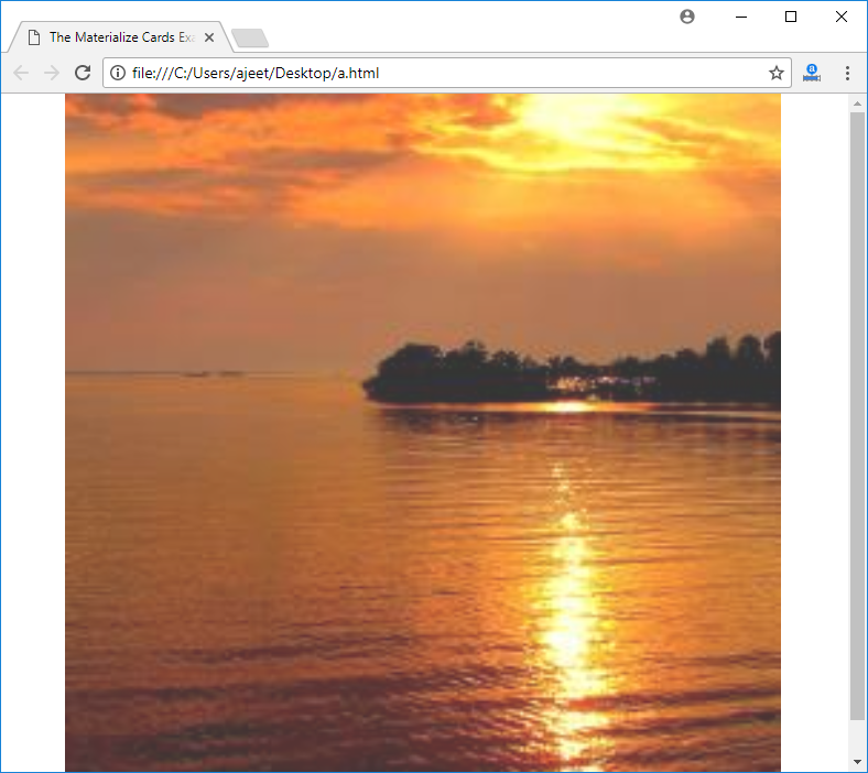 Materialize CSS JS Media - javatpoint