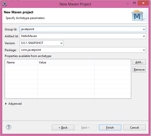 maven eclipse project