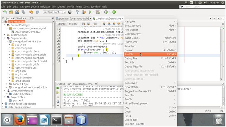 MongoDB Java mongodb connectivity 6