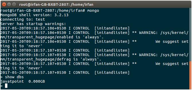 MongoDB Java mongodb connectivity 7