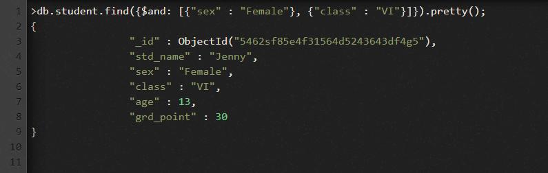MongoDB $and Operator