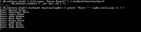 MongoDB Cursor Methods