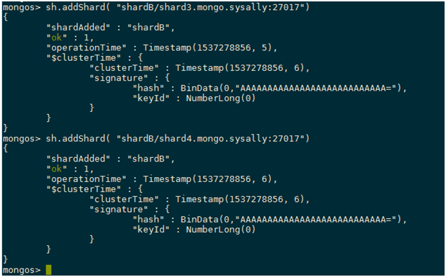 MongoDB Sharding Commands