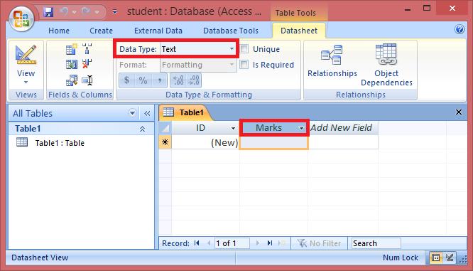 MS Access Tutorial