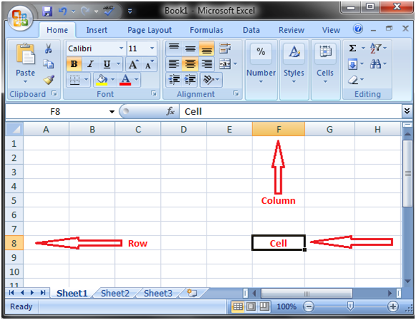 MS Excel: Work sheet, Rows, Columns and Cells - javatpoint