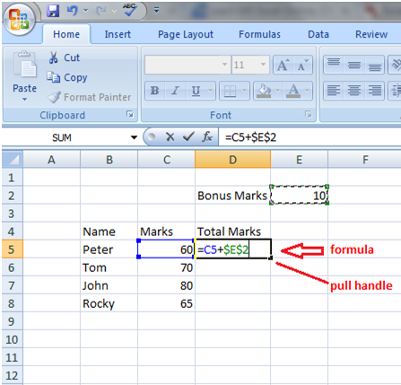 Excel absolute referencing 2