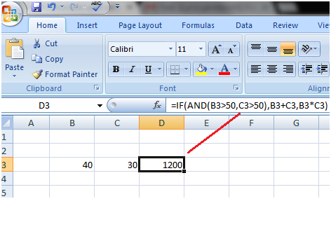 Excel Advanced If Function 1