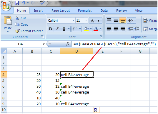 Excel Advanced If Function
