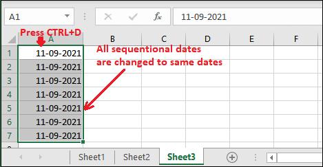 Autofill in Excel
