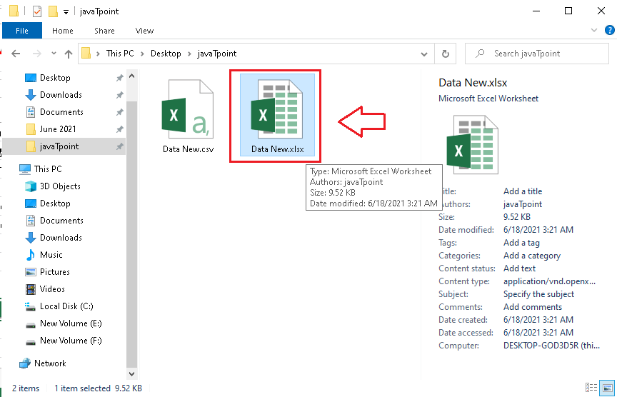 CSV to Excel