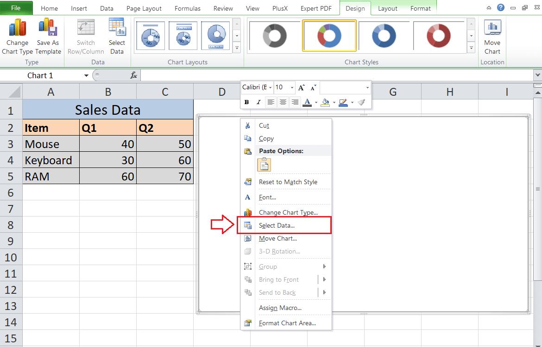 Doughnut Chart Excel