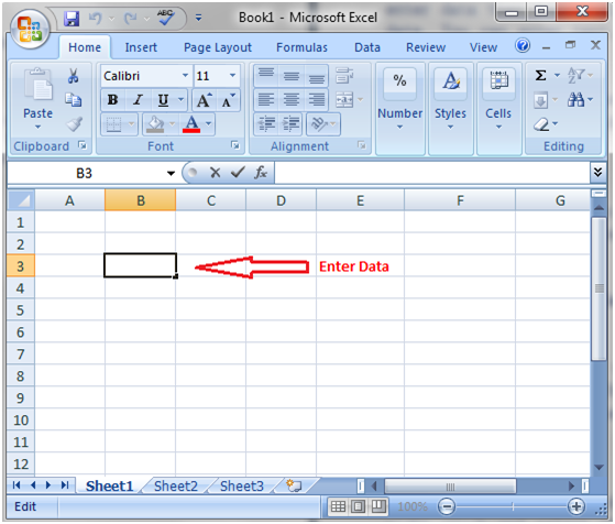 MS Excel: How to enter data - javatpoint