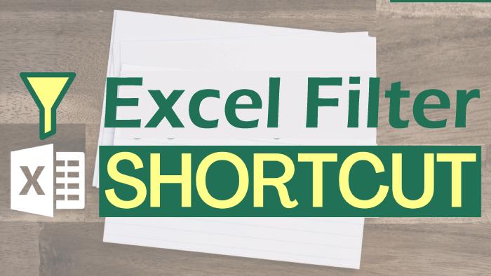 Excel Filter Shortcut