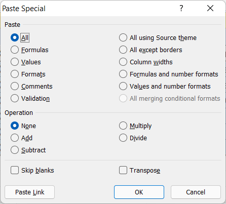 Excel Format Painter Shortcut