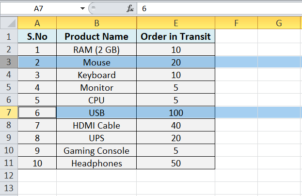 Excel Hide Shortcut