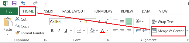 Excel Merge Cells Shortcut