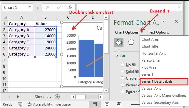 Excel Pareto chart