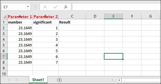 Excel round off formula