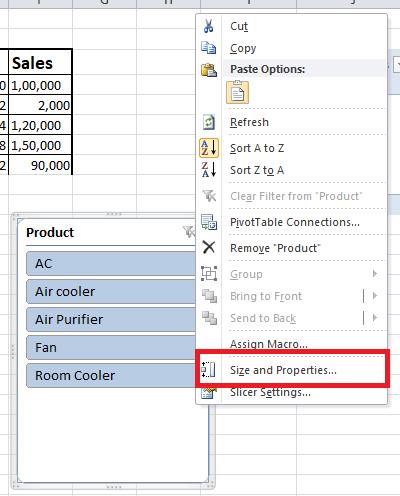 Excel Slicer