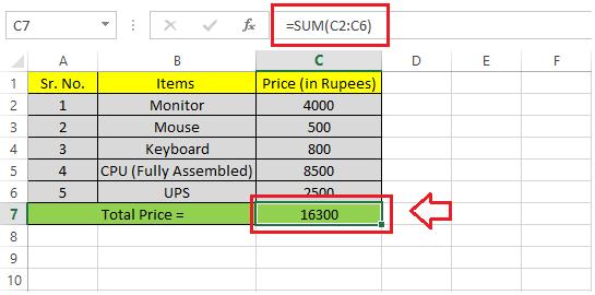 Excel Sum Shortcut
