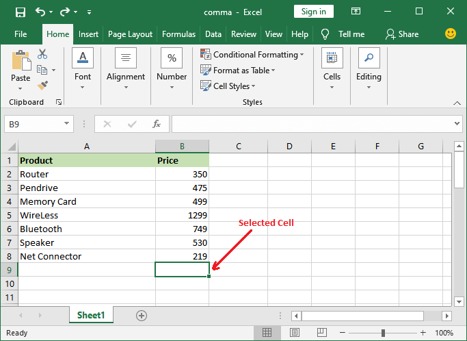 sumif function in Excel