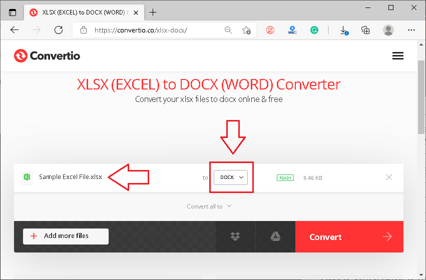 Excel to Word