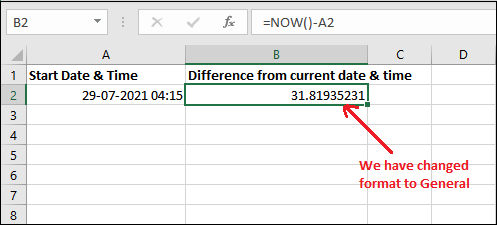 Excel TODAY and NOW
