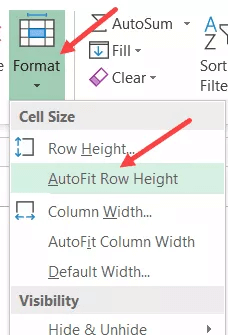 Excel Wrap Text Shortcut