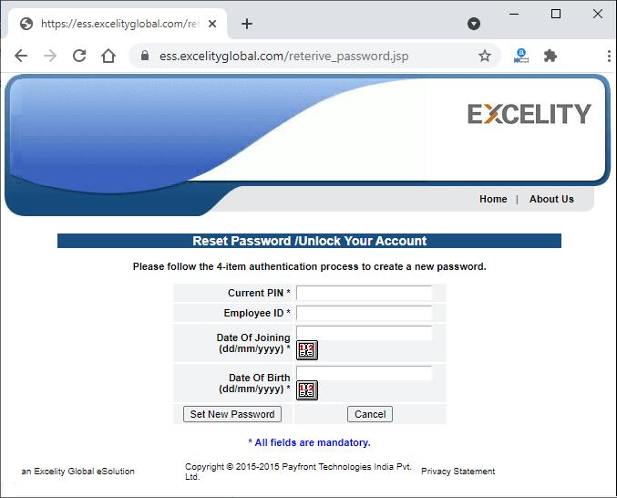 Excelity login