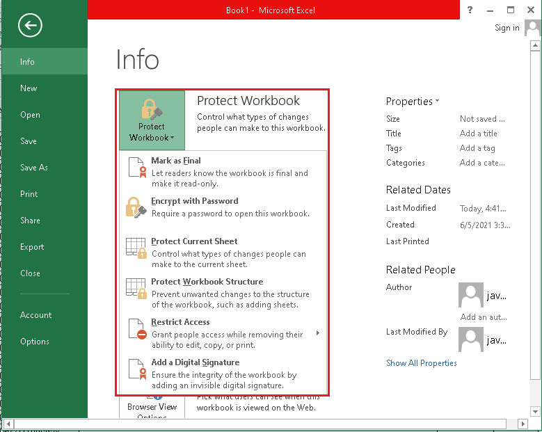Features of MS Excel