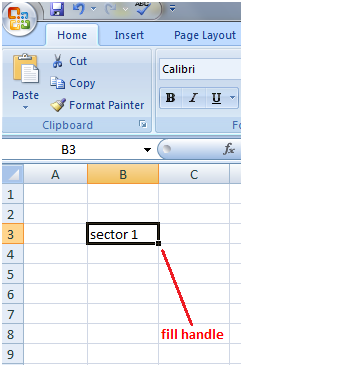 Fill Handle with text and number in Excel