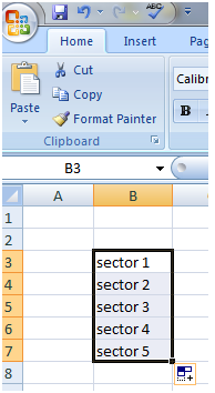 Fill Handle with text and number in Excel 2