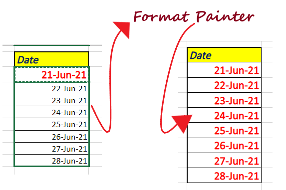 Format Painter in Excel