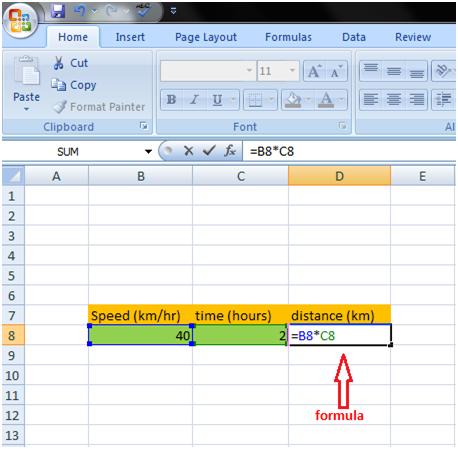 Formula in Excel 2