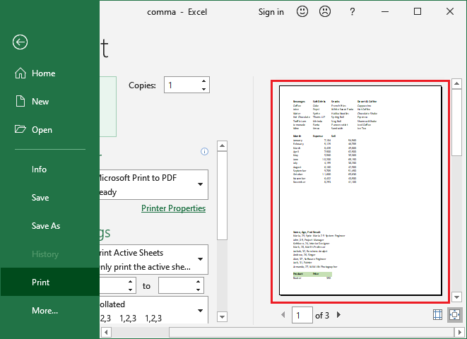 How to add page break in Excel