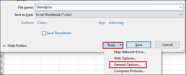 How to add/remove Password from Excel