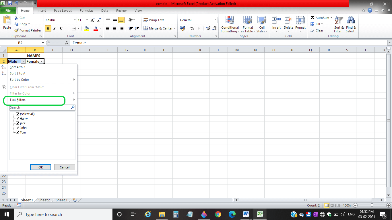 How To Apply Filter In Excel