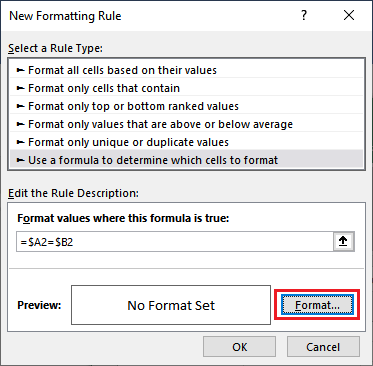 How to compare two columns in Excel